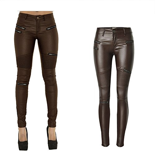 Women Leather Motorcycle Pants - 7