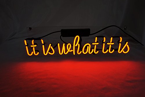 It Is What It Is 17 7 X 5 9 Led Neon Light Sign Cool Lamp Light Home Decor For Bedroom Beer Pub Hotel Beach Cocktail Recreational Game Room Cool Home Decor