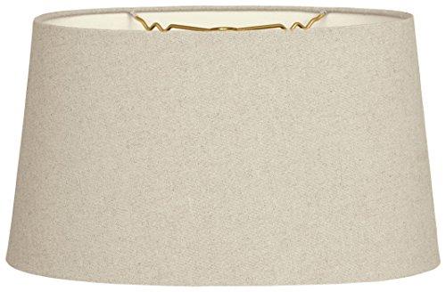 w Oval Hardback Lamp Shade, Linen Cream, 12 x 14 x 8.5 (Cream Hardback Shade)