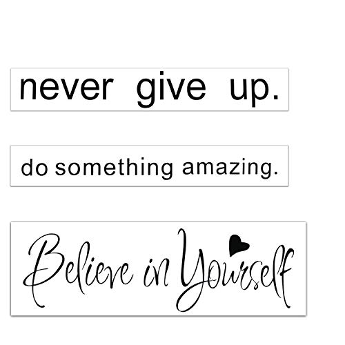 Wall Decal Quotes Words Stickers Bundle-Konsait Never Give Up-Do Something Amazing-Believe in Yourself Vinyl Wall Lettering Quotes Sayings for Living Room School Room Decor