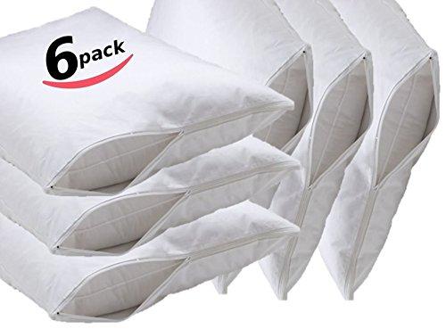 Premium Waterproof Vinyl Pillow Protector with Zipper - 6 PK (Vinyl Zipper)