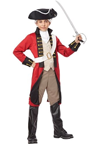 [Fancy England British Redcoat Soldier Military Navy Historical Child Costume] (Zombie Soldier Costumes)
