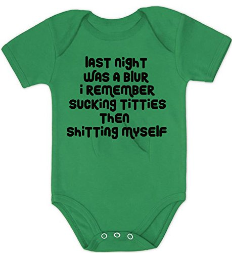 LPM Last night was a blur i remember sucking titties then shitting myself -2 Infant Onesie Unisex Funny Romper Onesie Creeper
