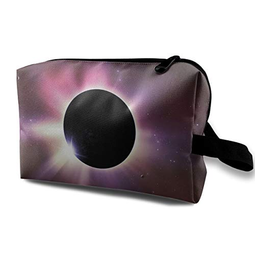 With Wristlet Cosmetic Bags Solar Eclipse Travel Portable