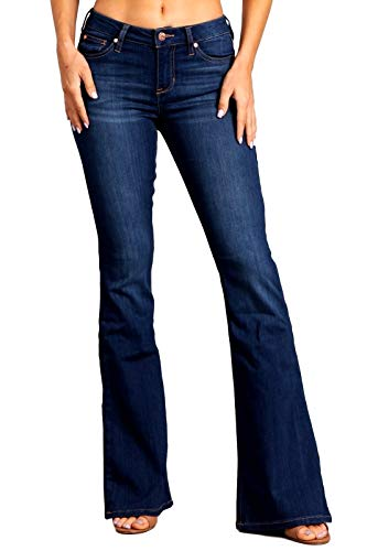 Flare Jeans Big - Celebrity Pink Women's Mid Rise Flare Jeans 7 Makaha CJ21060H18
