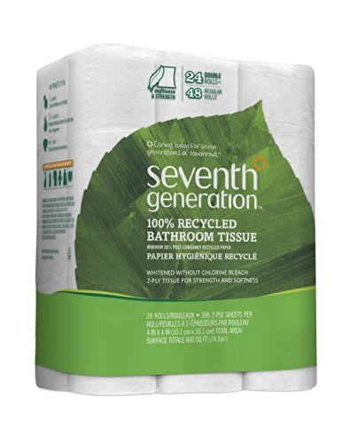 Seventh Generation Bathroom Tissue Rolls, 24 Count