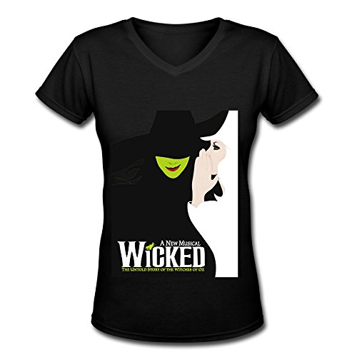 Love Hot Musicals Wicked Touring 2016 V Neck T Shirt For Women