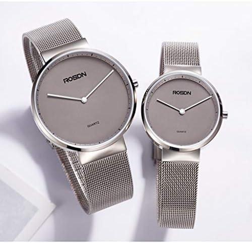 女性のためのアナログミニマリストウォッチ、ミラネアメッシュバンド、50m防水クォーツドレスを持つ超薄型ロマンチックな腕時計腕時計 (色 : 黒, サイズ さいず : M)
