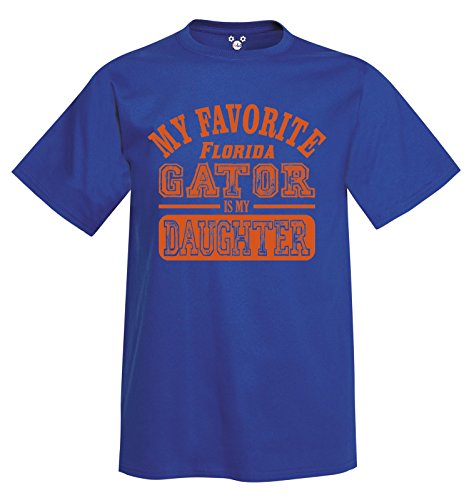 (DisGear My Favorite Florida Gator is My Daughter T-Shirt Royal Blue)