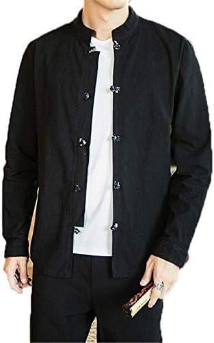[イダク] メンズ 民族 春 秋 長袖 ジャケット お兄系 キルティングコート 中国の伝統衣装