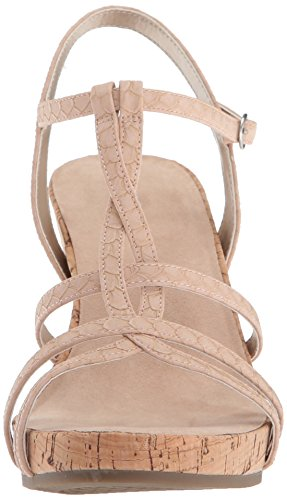 Sandal Wedge Snake Pink Women's Aerosoles Plush Song IzxOf1g