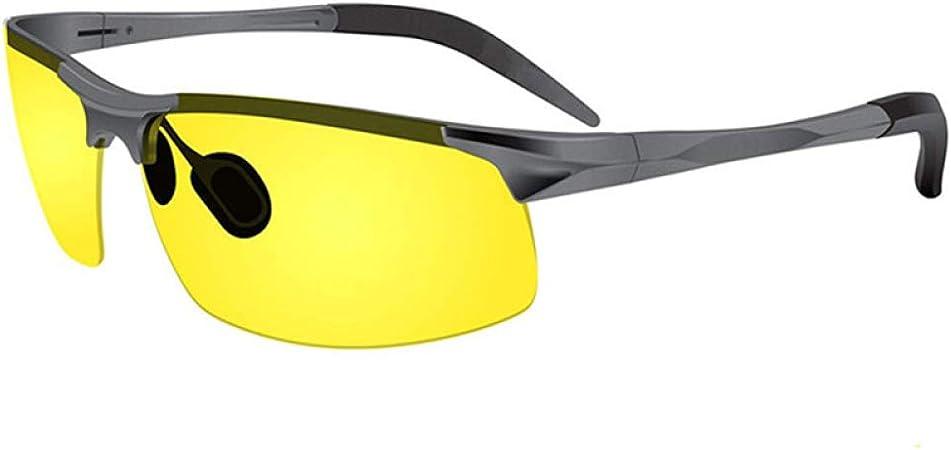 Xacxl Gafas de conducción Nocturna -Tinte Amarillo Semi ...