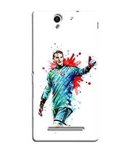 ColorKing Football Neuer Germany 03 White shell case cover for Sony Xperia C3