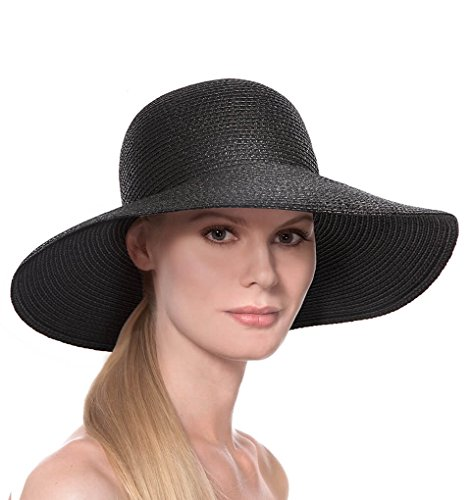 Eric Javits Luxury Fashion Designer Women's Headwear Hat - Bella - Black by Eric Javits
