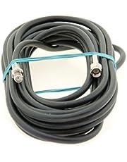 Alda PQ antenne verlengkabel 5 m, antennekabel RG58 met SMA/M naar SMA/F-stekkers voor antenneverlenging en ontvangst verbetering van de ontvangst. Kabel is ontworpen voor het hoogfrequentiebereik