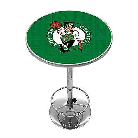 Trademark Gameroom NBA2000-BC3 NBA Chrome Pub Table – City – Boston Celtics