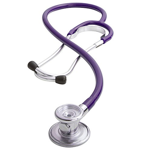 ADC Adscope 647 Sprague-1 Lightweight Single-Tube Stethoscope with 5 Interchangeable Chestpiece Options, 31.5 inch Length, Indigo