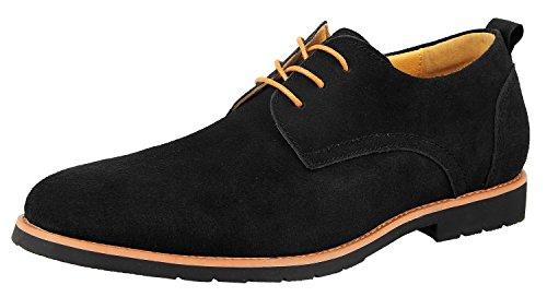 iLoveSIA Men's Leather Suede Oxfords Shoe US Size 11.5 Black
