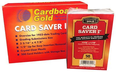 Cardboard Gold Card Saver 1 - PSA/BGS Graded Card Submission Holders, 100 Count