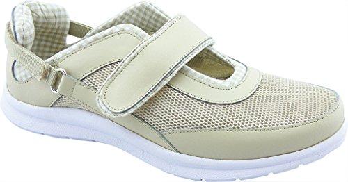 Bellini Dames Leuke Ronde Neus Mesh, Fashion Sneakers Beige