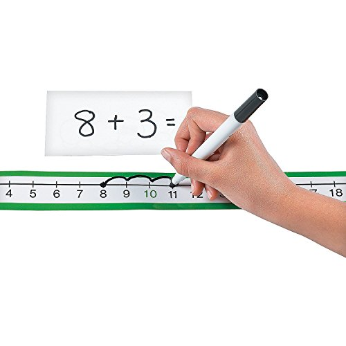 Fun Express Dry Erase Number Line Sheets - 36 Pieces