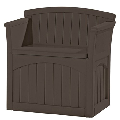 AMGS Brown Deck Low Storage Box Bench Organizer Outdoor Seat Contemporary Pool Equipment Porch Storage Container Patio Pillows Backyard Toy Storage Garden Tools & e-book by Amglobalsupplies. by AMGS