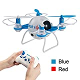 TechRC TR001C Mini Bee RC Quadcopter Drone,2.4GHz RC Micro Helicopter with 3D Flip Headless Mode 2MP HD Camera-Blue