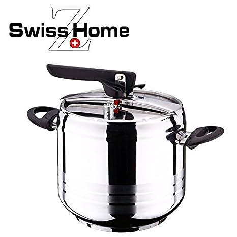 Swiss Home Q0323B Bgib-4062 - Olla a presión de 7 L, recomendada por el chef Pepe Rodriguez, con doble válvula de seguridad y total security system. ...