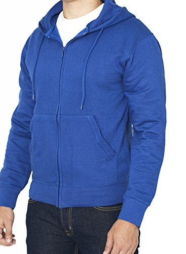 white and light blue hoodie men - 3