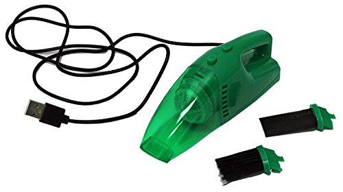 USB Mini Vac Miniature Vacuum Cleaner Lightweight Bagless Handheld - With Brush...