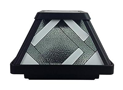 Moonrays 91186 Ridgely-Style Premium Output Solar Powered Plastic Post Cap Light, Black
