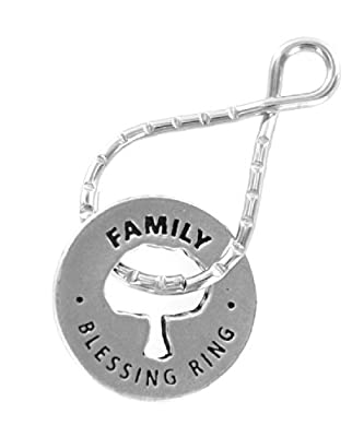 Family w/ Tree Reversible Blessing Ring Keychain
