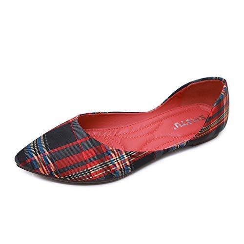 Rosso Qiusa Dimensione Scarpe colore Eu 40 Marrone ww4PO