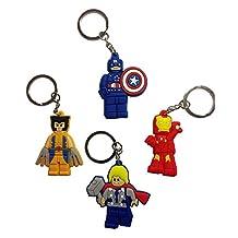 Lego Movie Keychains 4 Pcs Set #3