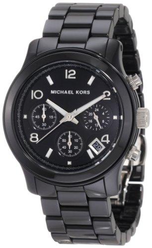 Michael Kors Women's MK5162 Black Ceramic Runway Watch