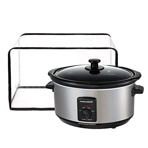 """Waterproof Slow Cookers Protective Cover, Transparent Instant Pot Pressure Cooker Dustproof Cover, 100% Satisfaction Guarantee-Transparent Color-Year Around Protection Pot Cookers Wallet Hols Appliances Up To 16""""L And 10""""H (16W x 11D x 10H)"""