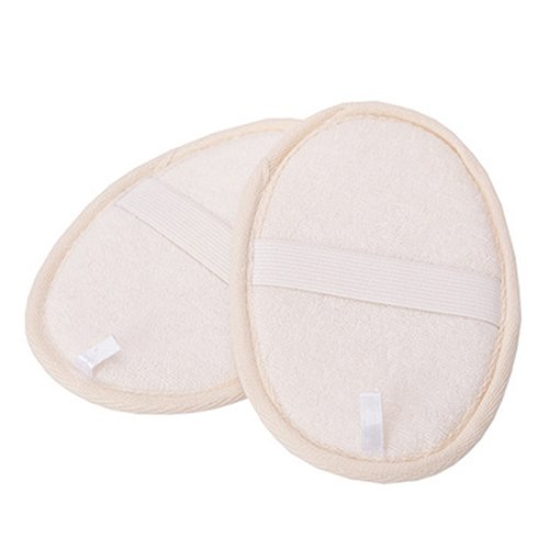 [4 Pcs Loofah Pad Loofa Sponge Scrubber Bath Spa Shower Brush Close Skin] (Loofah Costume Materials)