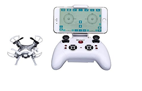 Drone with WiFi HD Camera for Kids Contixo RC Quadcopter Controlled Mini Drones. 720p HD Camera Sends Real-Time Photos and Live Videos to your Phone's app. Altitude hold, 100ft Control Range Gravity