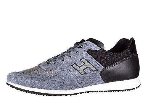 Hogan Herenschoenen Mannen Suède Sneakers Schoenen H205 Olympia X Blu