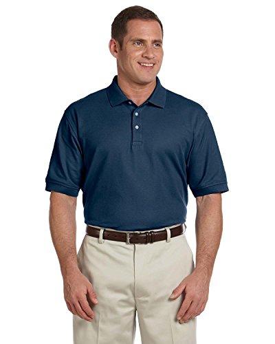 Pima Cotton Pique Polo Shirt (Devon & Jones Men's Pima Pique Polo Shirt, Navy, X-Large)