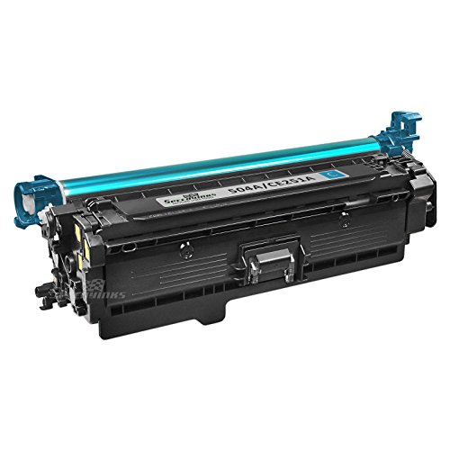 Speedy Inks - Remanufactured Replacement for HP 504A CE251A Cyan Laser Toner Cartridge for use in HP Color LaserJet CP3525dn, CP3525n, CP3525x, CP3525, CP3530, CM3530, CM3530fs