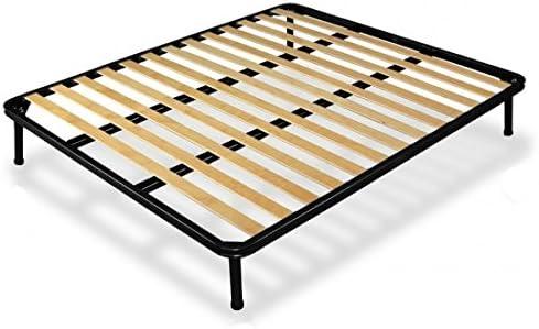 Somier de láminas finas para cama de matrimonio, 160 x 190 cm, ortopédico, doble refuerzo