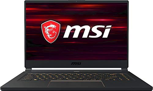 "MSI GS65 Stealth-006 15.6"" 144Hz Ultra Thin and Light Gaming Laptop, Intel Core i7-8750H, NVIDIA RTX 2060, 16GB DDR4, 512GB Nvme SSD, Win10"