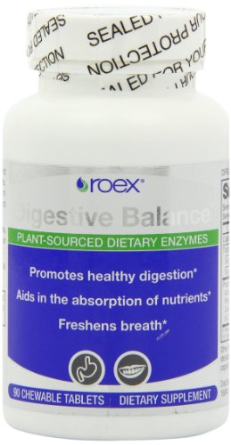 Chewable Breath Freshener - Roex Digestive Balance Dietary Supplement Chewable Tablets, 90 Count