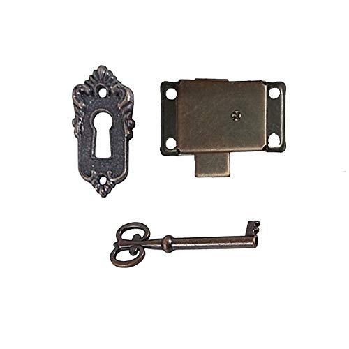 Bronze Small Brass Gold Plated Taro Cabinet Lock Iron Cabinet Door Locker Cupboard Door Lock Spring Door Lock (Bronze)