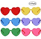 Heart Shaped Rimless Sunglasses Transparent Candy Color Eyewear (6-color)