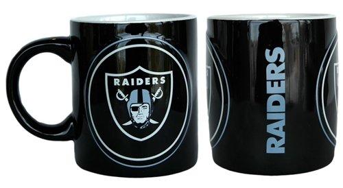 Boelter Brands Oakland Raiders NFL Coffee Mug - 14oz Sculpted Warm Up (Single Mug)