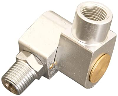 "Apache 99019500 1/4"" Male x Female 360° Air Tool/Hose Swivel Connector"