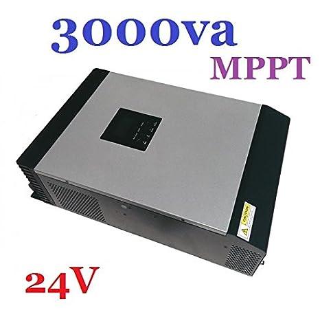 Inversor/Cargador Hibrido Onda Pura 3000VA MPPT 24V 220V ...