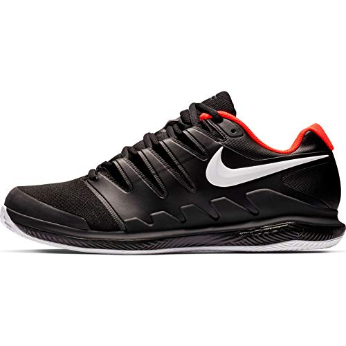 Nike Air Zoom Vapor X Cly Mens Sneakers AA8021-016, Black/White-Bright Crimson, Size US 10